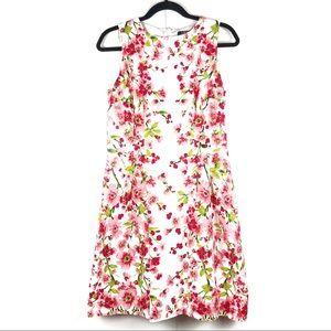RALPH LAUREN Pink Cherry Blossom Sleeveless Dress